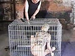 Caged asian slavegirl Kumimonsters tit anguish
