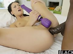 BLACKED Teen cutie tries Interracial anal act of love