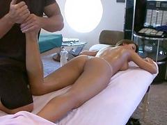 Hard boner during massage