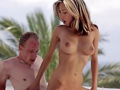 Pretty hot Joanna gets fucked outdoor