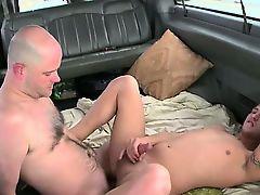 Straightbait bald dude shoots his load