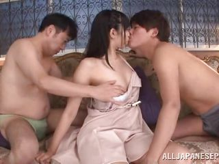 mako gets fucked by double dudes