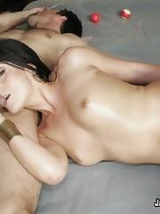 Oiled Up Slut Gets Drilled Deep