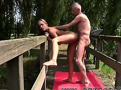 Fat gay young porn movies Without clothes on a bridge in a public park