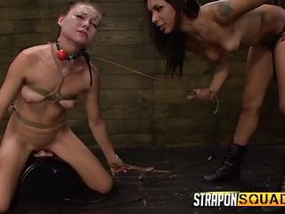 mean mistress has fun with naughty isa
