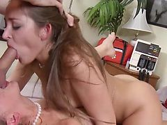 Milf housewife swaps cream with husbands nurse