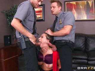 ashley handles dual disgruntled guards