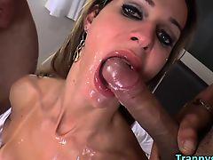 TS Bianca Sereia lures two huge cocks