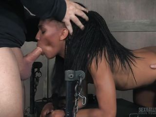 ebony babe was jostled to her appealing limits