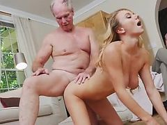Nasty old milf and old stud preggy Molly
