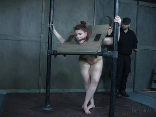 redheaded slave learns submission in the dungeon