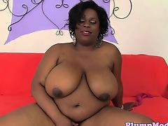 Ebony plumper orally fixating earlier than doggystyle