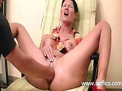 Hot amateur fist fucked in her loose cunt till she orgasms