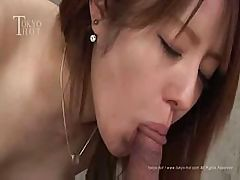 Cream-skinned Asian babe doesna��t afraid this army of lonely dicks