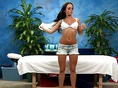 Sweet ass rahynde gets a pussy massage