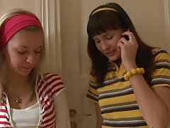 Nika and Lorraine share a vibrator in their female professor's room.