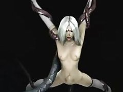 3D Babe Gangbanged by Tentacles!
