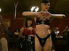 Wet girl striptease